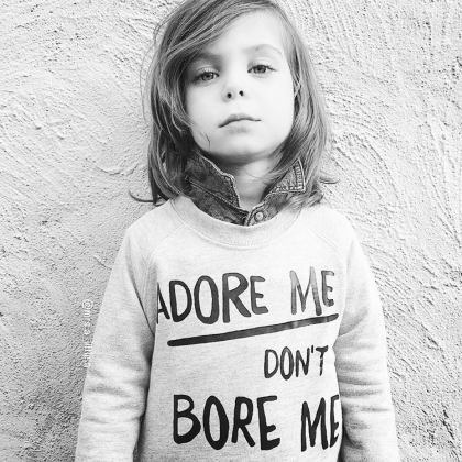 Kindermusthaves - ADORE ME DON'T BORE ME sweater!