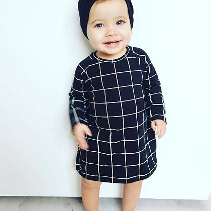 Kindermusthaves - Black Grid Dress