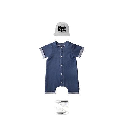 Kindermusthaves - Denim onesie!