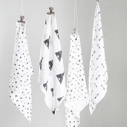 Kindermusthaves - Monochrome swaddles!