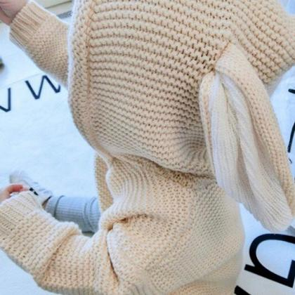 Kindermusthaves - TIP: Unisex knitted bunny hooded sweaters!