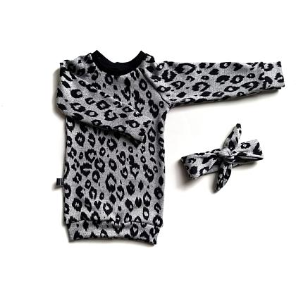Kindermusthaves - Sweaterdress leopard!