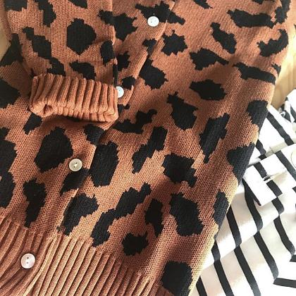 Kindermusthaves - Leopard cardigan!