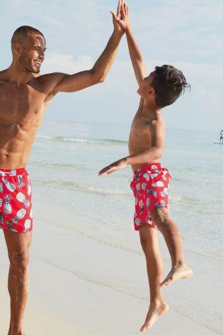 Zwembroek Man En Kind.Boys Matching Swimwear Kindermusthaves