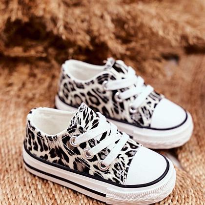 Kindermusthaves - ROAR! Witte leopard sneakers!