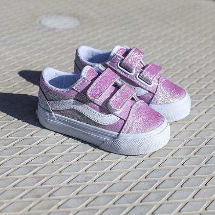 Kindermusthaves - Roze glitter Vans!
