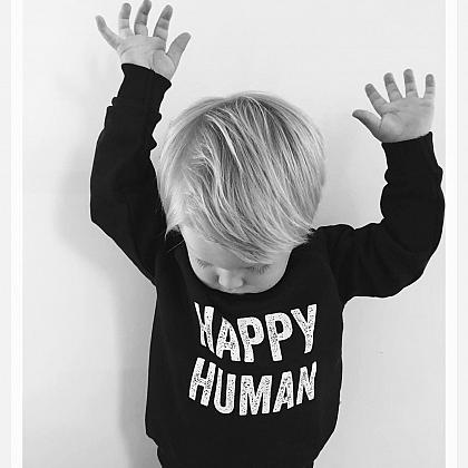 Kindermusthaves - HAPPY HUMAN sweater!