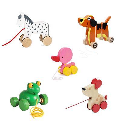 Kindermusthaves - Grappige houten trekfiguren!