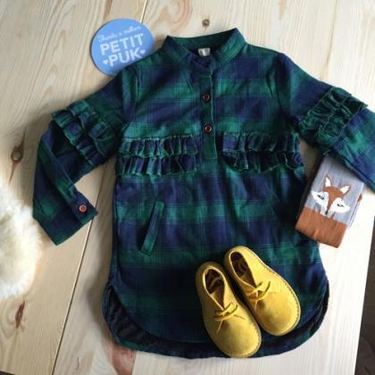 Kindermusthaves - Tartan overhemd-jurk!