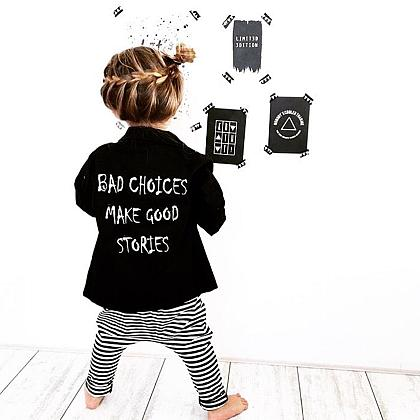 Kindermusthaves - Slogan-jacket!