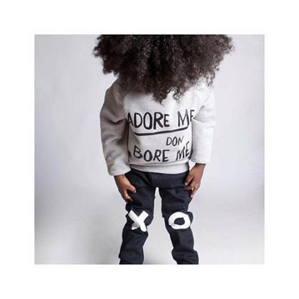Kindermusthaves - Adore me don\'t bore me sweater!