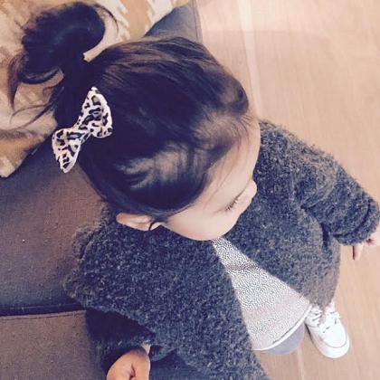 Kindermusthaves - Haarstrikje met panterprint