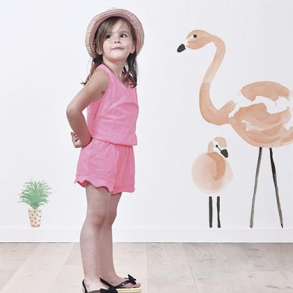 Kindermusthaves - Wallsticker Flamingo!