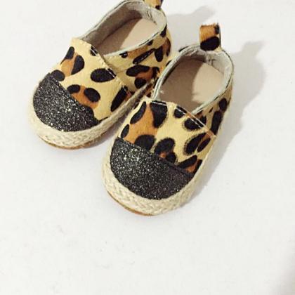 Kindermusthaves - Leopard espadrilles!