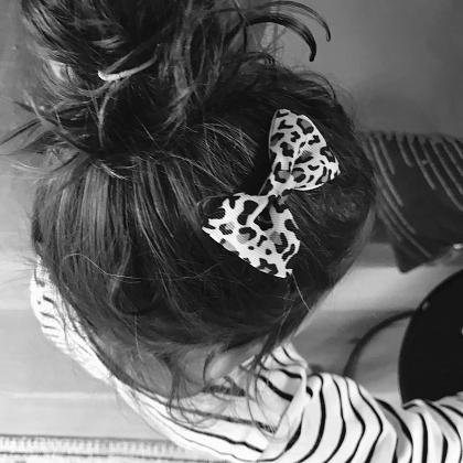 Kindermusthaves - Haarspeldje met panterprint!