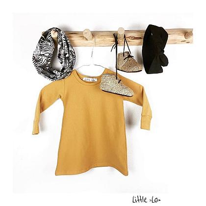 Kindermusthaves - Sweater dress mustard!