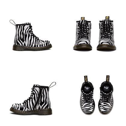 Kindermusthaves - Dr. Martens boots met zebraprint!