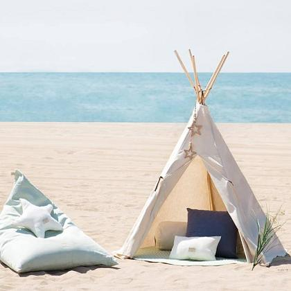 Kindermusthaves - Poef + tipi tent!