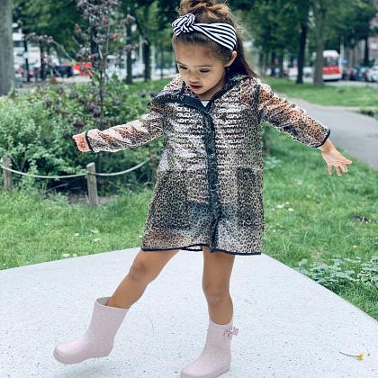 Kindermusthaves - Regenjas panterprint!