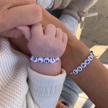 Kindermusthaves - Combideal: Naamarmbandje voor moeder en dochter