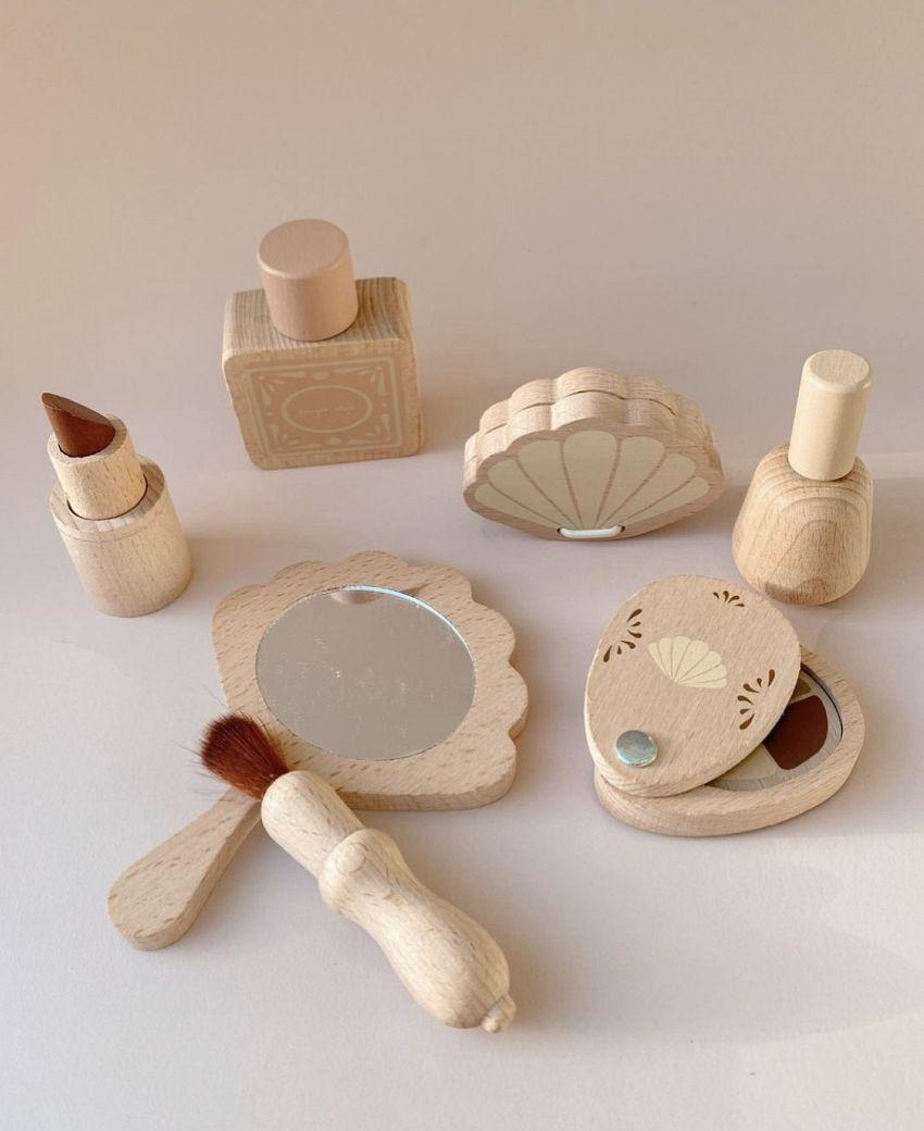 Houten beauty set!