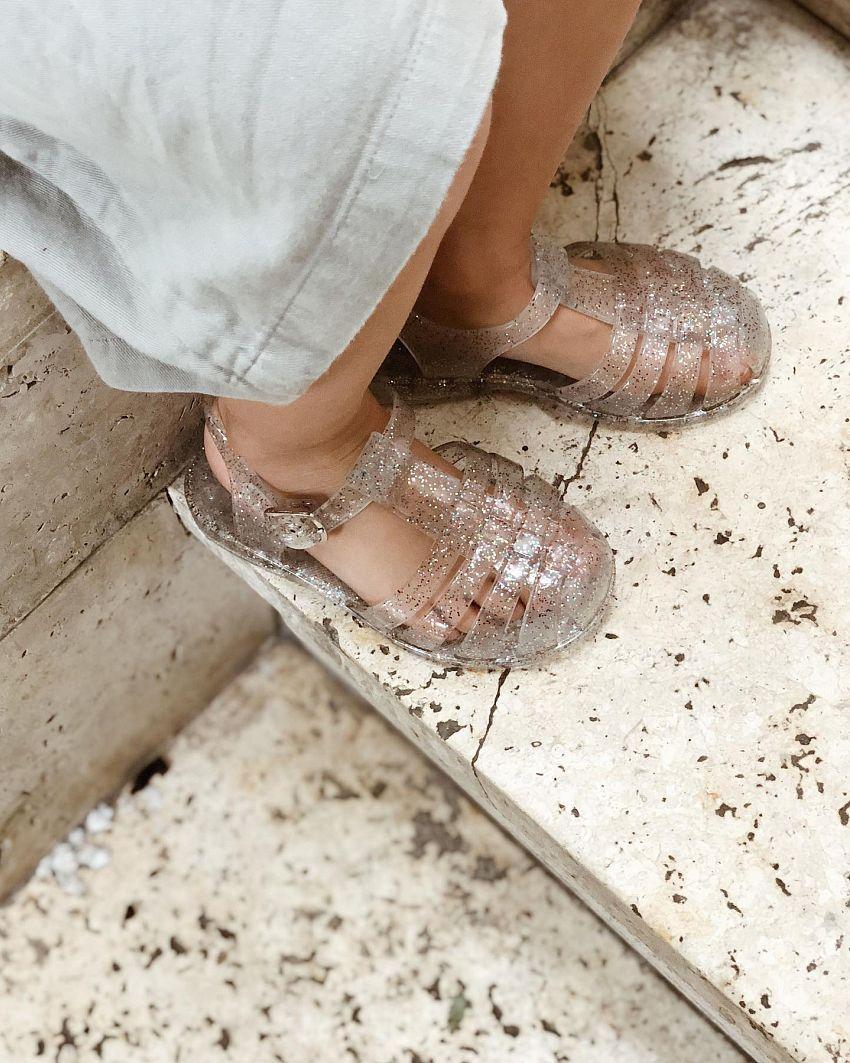 Sandalen met glitters!