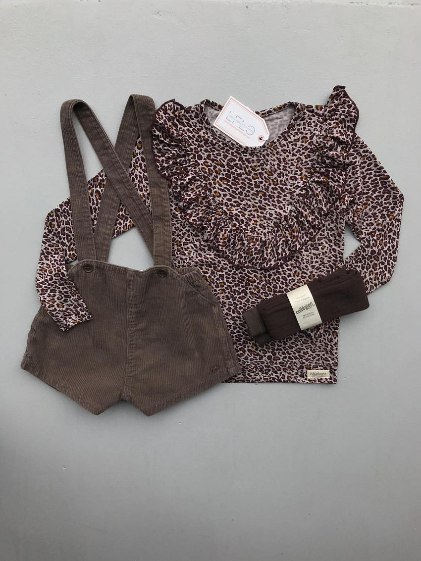 Suspender skirt + leopard!