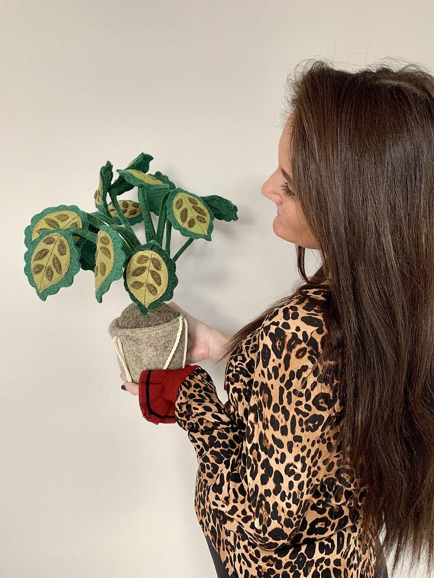 Vilten hangplant kinderkamer!