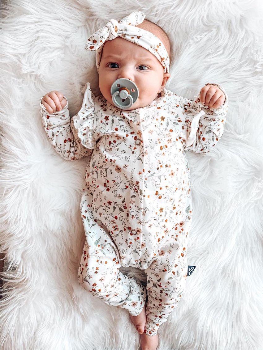 Babypak met bloemenprint!