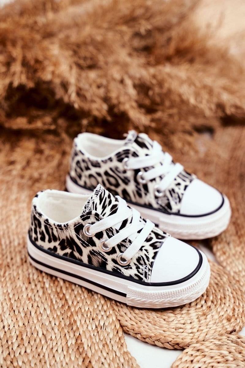 ROAR! Witte leopard sneakers!