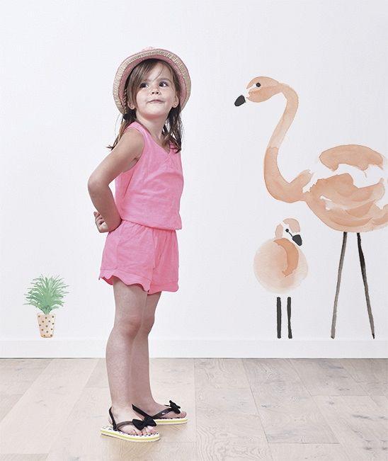 Wallsticker Flamingo!