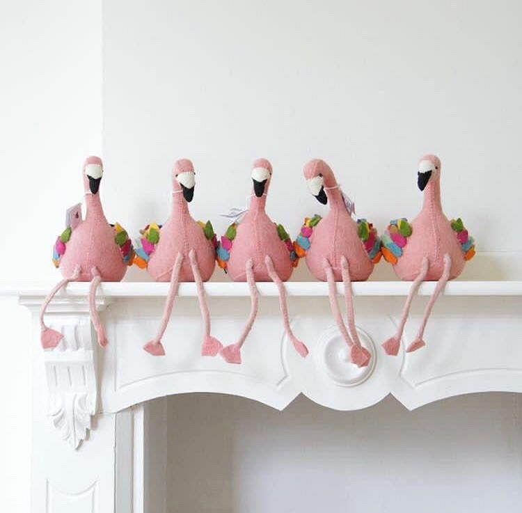 Boekensteun Flamingo!