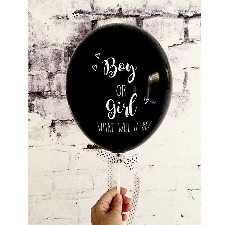 Gender reveal ballonnen!